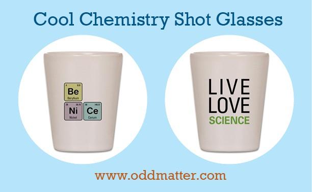 Fun Chemistry-themed Shot Glasses