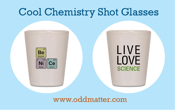 Fun Chemistry-themed Shot Glasses