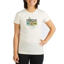 Chemistry Cat Organic Women's Fitted T-Shirt
