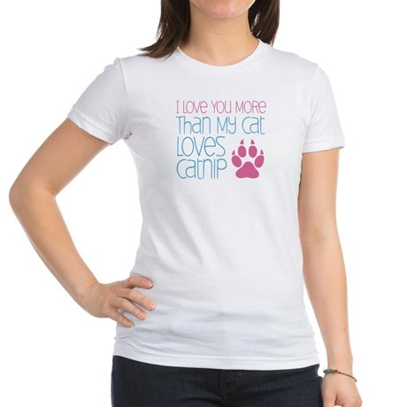 Love You More Than My Cat Love Catnip Jr. Jersey T-Shirt