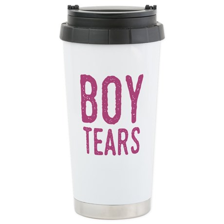 Funny Boy Tears Travel Mug