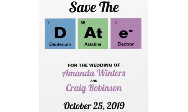 Geeky Wedding Invitations for Chemists
