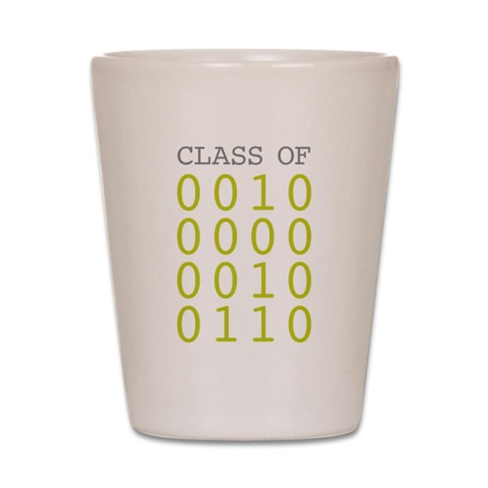 Class of 2026 Shot Glass with Binary numbers
