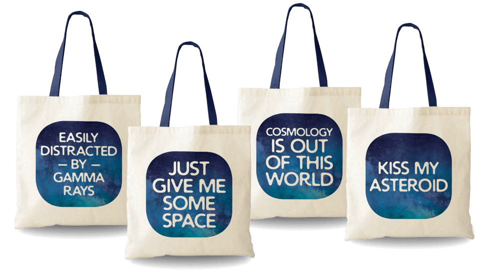 Humorous Space Themed Tote Bags by OddMatter