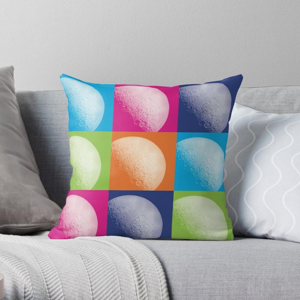Moon Art Throw Pillow